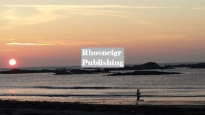 Rhosneigr winter sunset over Boating Pool