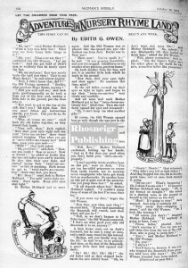 TRR P040 gwen OWEN adventures article from 1912